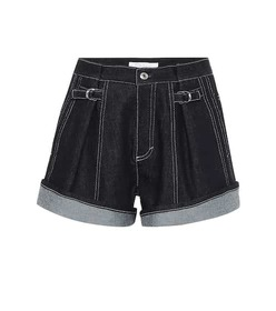 Chloé High-rise denim shorts