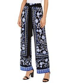 INC Scarf-Print Wide-Leg Pants, Created for Macy's