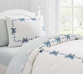 Pottery Barn Windsor Embroidered Butterfly Sham