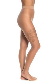 WOLFORD Melina Ink Lion Print Tights