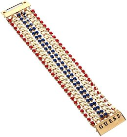 GUESS Multi Row Colored Stone and Chain Magnetic C