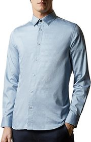Ted Baker Hamtie Long Sleeve Core Geo Print Shirt