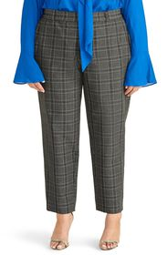Rachel Roy High Waist Grey Check Tapered Trousers