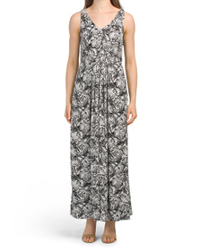 NICOLE MILLER Pleated Printed Maxi Dress