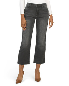 KUT FROM THE KLOTH Kelsey Flare Leg Jeans With Raw