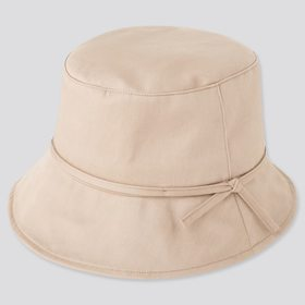 Women Uv Protection Adjustable Bucket Hat, Beige,