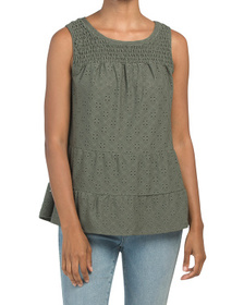 Tiered Tank With Smocking