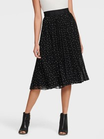 Donna Karan PRINTED PULL ON PLEATED SKIRT