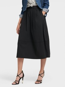 Donna Karan PULL-ON MIDI SKIRT