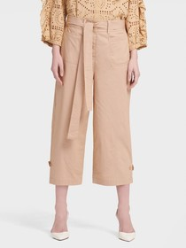 Donna Karan WIDE-LEG PANT WITH ROLL-TAB CUFFS