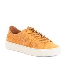 FRYE Perforated Leather Fashion Sneakers
