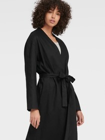 Donna Karan LONG-LINE OPEN-FRONT CARDIGAN