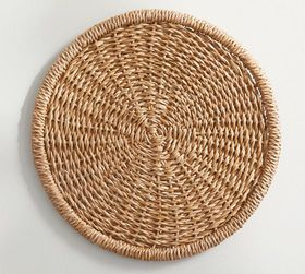 Pottery Barn Seagrass Charger