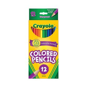 Crayola Colored Pencil Set in Assorted Colors, 12