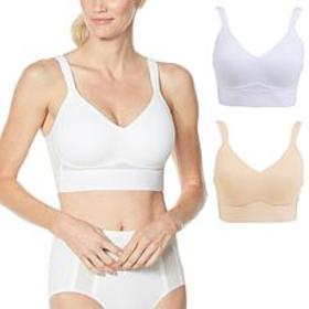 """""""As Is"""" Rhonda Shear 2-pack Molded Cup Bra with Me"""
