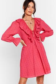 Nasty Gal Hot pink Frill Got Love For You Broderie