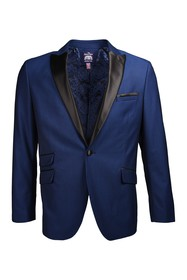 SAVILE ROW CO Navy One Button Peak Lapel Slim Fit