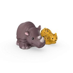 Fisher-Price Little People Leopard and Rhino, Size