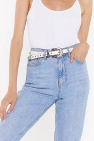 Nasty Gal White Woman on a Mission Western Studded