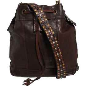 Sofia C Made in Italy Studded Bucket Bag - Leather