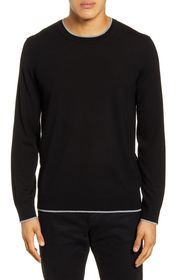 Theory Regal Tipped Wool Crewneck Sweater