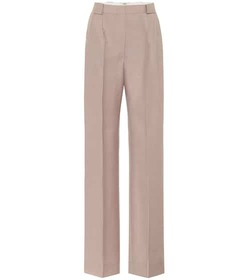 Fendi High-rise mohair and wool pants