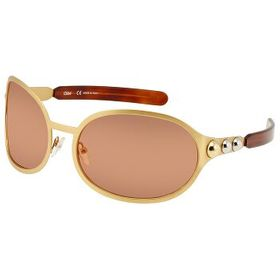 ChloeCoral Oval Sunglasses