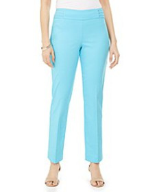 Studded Pull-On Tummy Control Pants, Regular, and