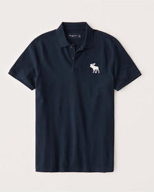 Exploded Icon Stretch Polo, NAVY BLUE