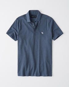 Concealed Placket Stretch Icon Polo, BLUE