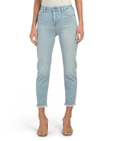TRUE RELIGION High Waist Starr Jeans With Fray Hem