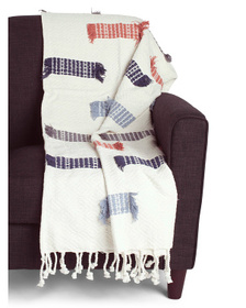 MAX STUDIO Handcrafted In India Textured Throw