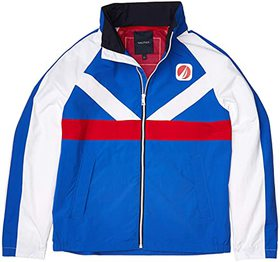 Nautica Lightweight Colorblock Jacket With Back Lo