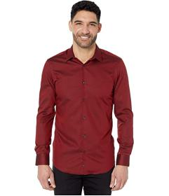 Perry Ellis Slim Fit Solid Dobby Resist Spill Shir