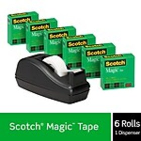 Scotch® Magic™ Invisible Tape, 3/4 x 27.77 yds., 6