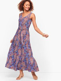 Talbots Paisley Tiered Midi Dress