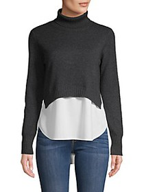 Brochu Walker Layered Turtleneck Cashmere & Cotton