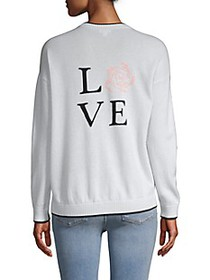 Minnie Rose Graphic Cashmere Sweater