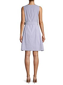 Anne Klein Seersucker Striped A-Line Dress