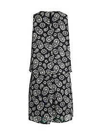 Tommy Hilfiger Paisley Floral Print Overlay Shift