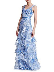 Marchesa Tiered Tulle Gown