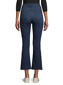 7 For All Mankind High-Rise Destroyed Kick Flare J