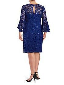 Max Studio Sequined Lace Dress