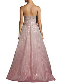Rene Ruiz Collection Ombré Strapless Gown