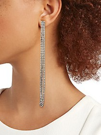 Kenneth Jay Lane Black Rhodium-Plated Dangle Earri