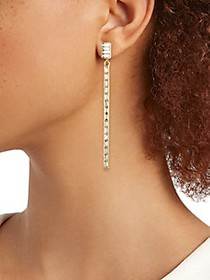 Kenneth Jay Lane Goldtone & Crystal Drop Earrings