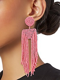 Kenneth Jay Lane Seed Bead Waterfall Earrings