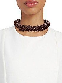 Kenneth Jay Lane Goldtone Chunky Bead Necklace