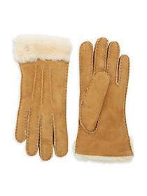 UGG Shearling-Cuff Sheepskin Gloves
