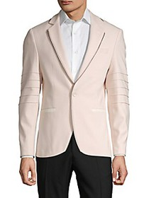RNT23 ​Zip Piping Cotton-Blend Sportcoat